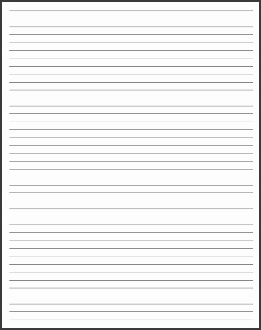 Blank Lined Paper Template cvfreepro - blank lined paper template