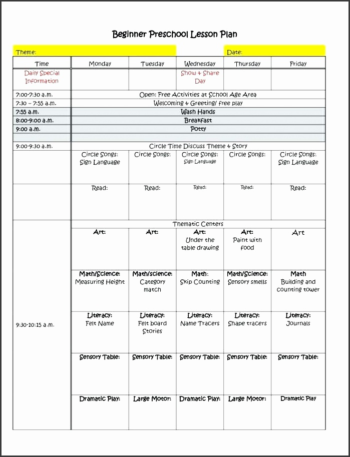 7 Common Core Weekly Lesson Plan Template - SampleTemplatess