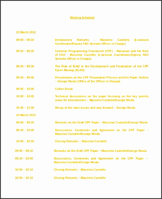 9 Conference Room Schedule Template - SampleTemplatess
