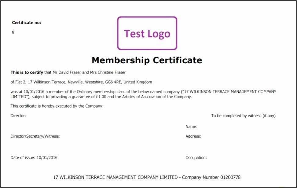 Dividend Certificate Template - Costumepartyrun