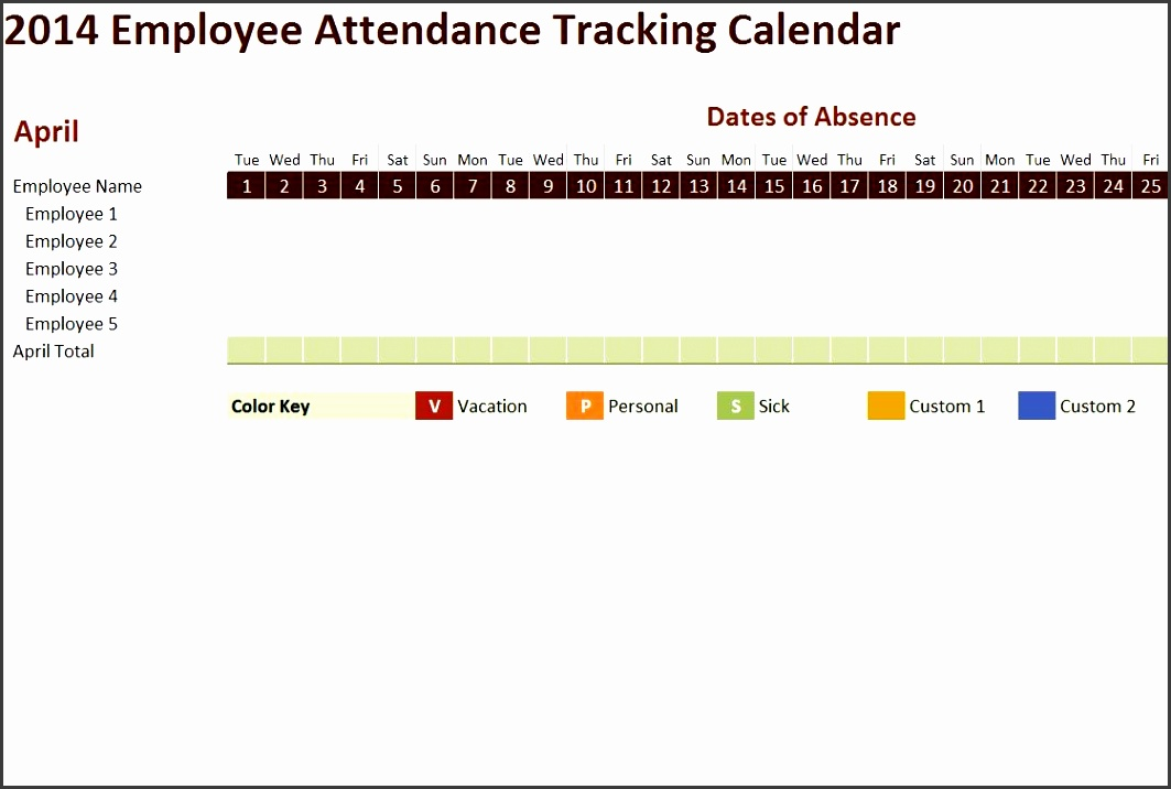 8 Employee Vacation Tracker Template - SampleTemplatess