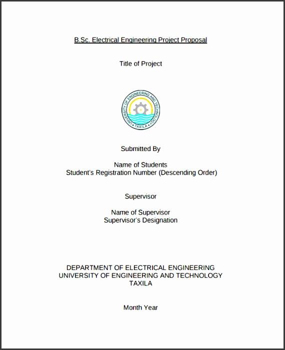 6 Engineering Project Proposal Template - SampleTemplatess
