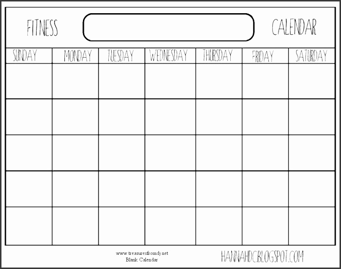 blank workout schedule exercise calendar log blank fitness free