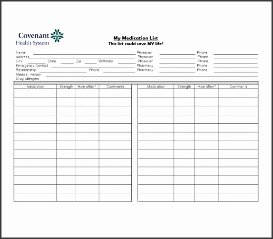 10 Free Printable List Templates - SampleTemplatess - SampleTemplatess