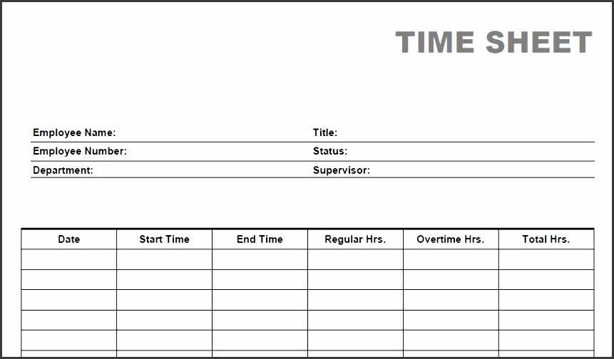 8 Free Printable Time Cards Templates - SampleTemplatess