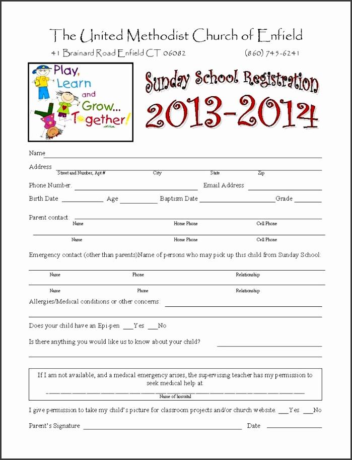 Summer Camp Registration Form Doc traveltourswall - enrollment form format