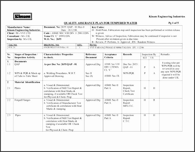 5 Inspection Test Plan Template - SampleTemplatess - SampleTemplatess - test report template