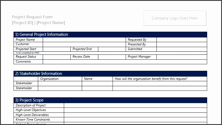 project request form template word - Funfpandroid - project request form