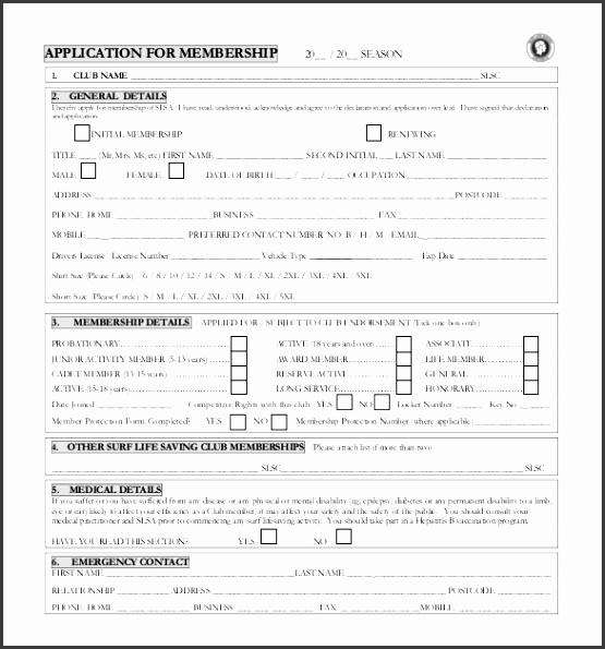 10 Membership Application form Template - SampleTemplatess