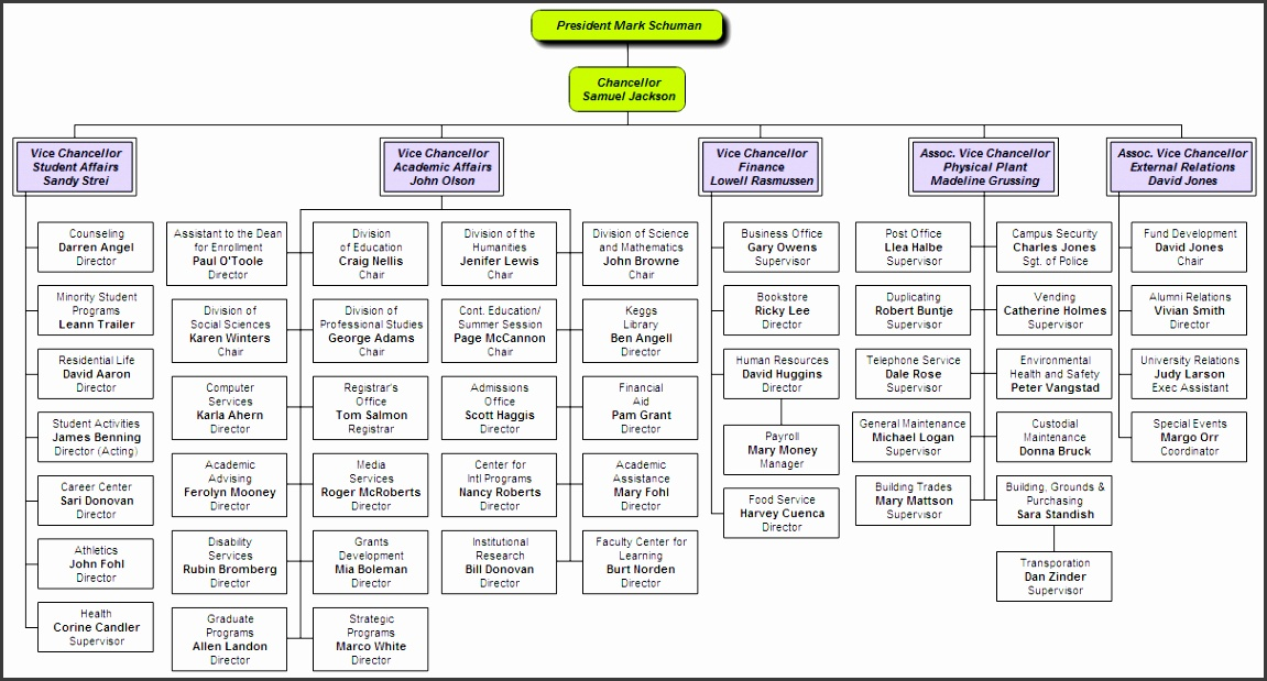 sample org chart - Towerssconstruction