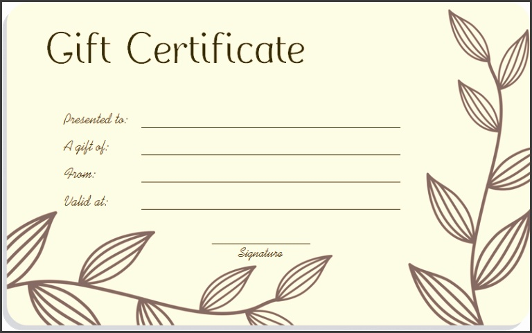 blank gift certificate - Baskanidai - Printable Blank Gift Certificates