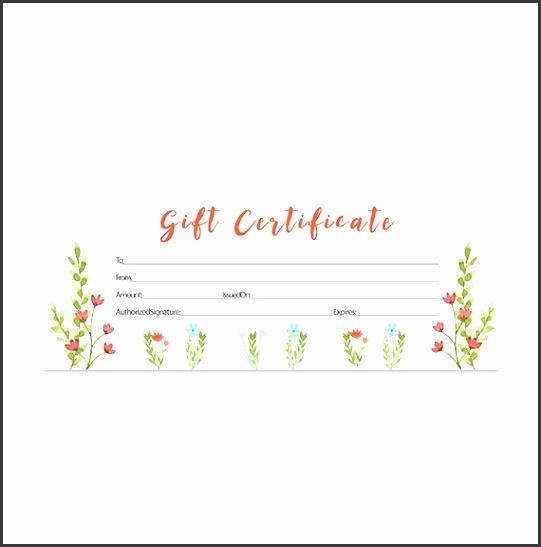 5 Printable Blank Gift Certificates - SampleTemplatess - Printable Blank Gift Certificates