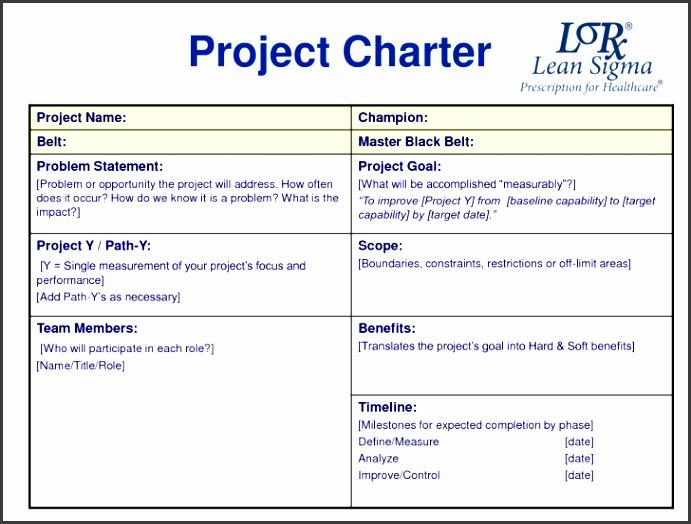 5 Project Charter Template Word - SampleTemplatess - SampleTemplatess