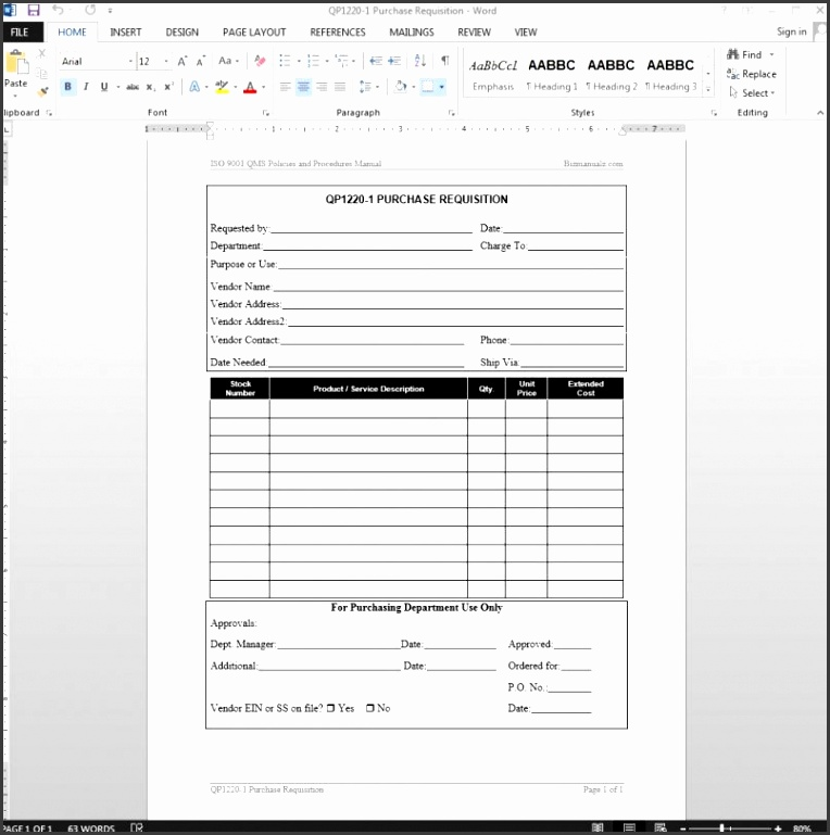 purchasing request form - Jolivibramusic - excel po template