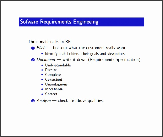 10 software Requirement Analysis Document Template - requirement analysis template