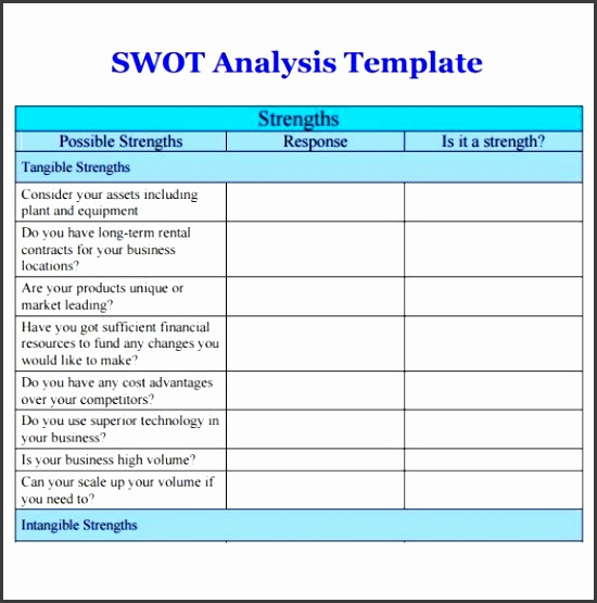 9 Swot Analysis Template Word - SampleTemplatess - SampleTemplatess