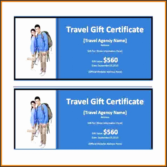 7 Travel Gift Voucher Template - SampleTemplatess - SampleTemplatess - Travel Gift Certificate Template Free
