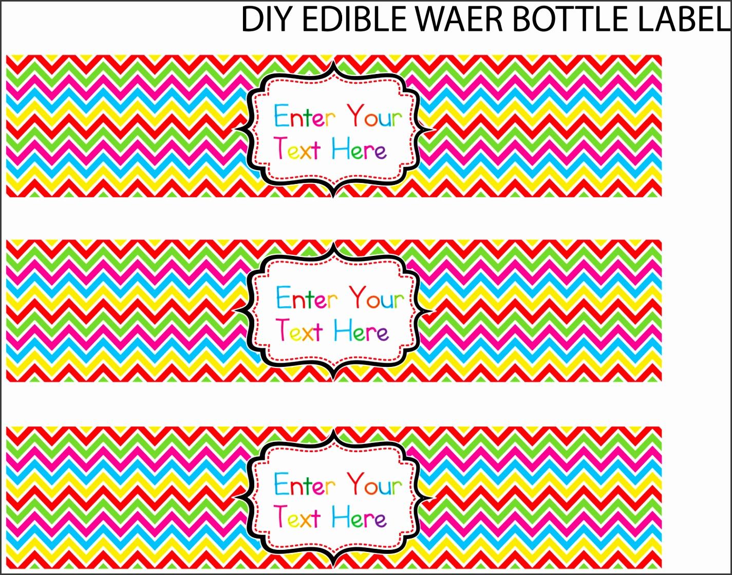 water bottle label template free word