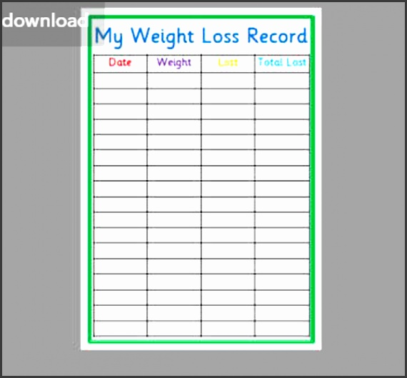 5 Weight Loss Template - SampleTemplatess - SampleTemplatess
