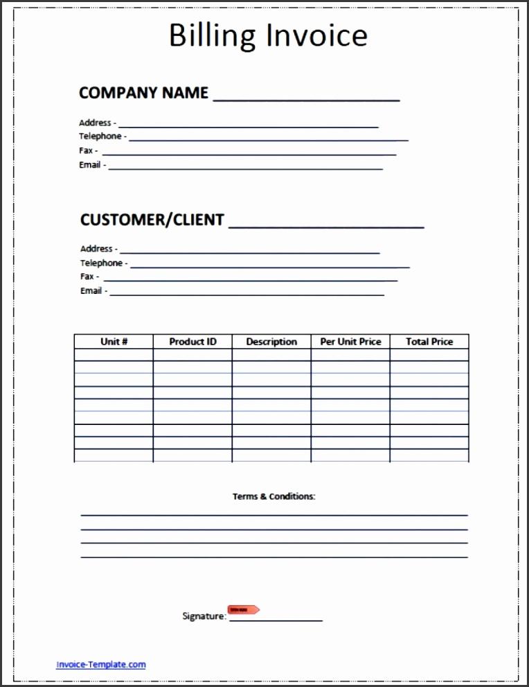 5 1099 Invoice Template - SampleTemplatess - SampleTemplatess