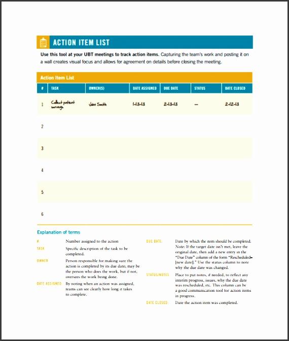 5 Action Item List Template - SampleTemplatess - SampleTemplatess - action list templates