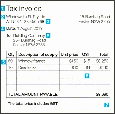 tax invoice template australia - Intoanysearch - Australian Invoice Template