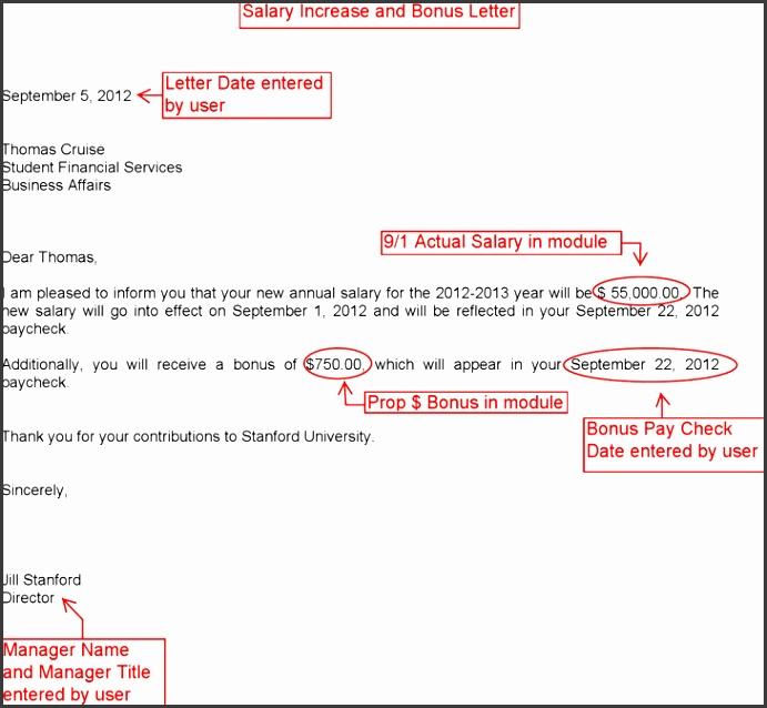 5 Bonus Letter Template - SampleTemplatess - SampleTemplatess - bonus letter template