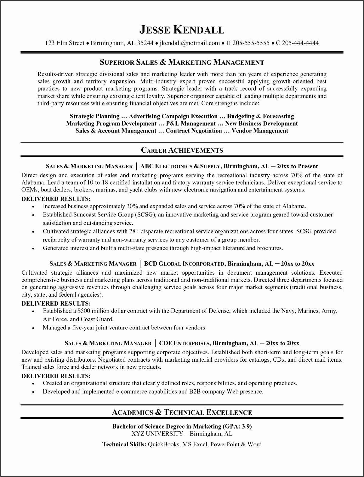top sales resume examples