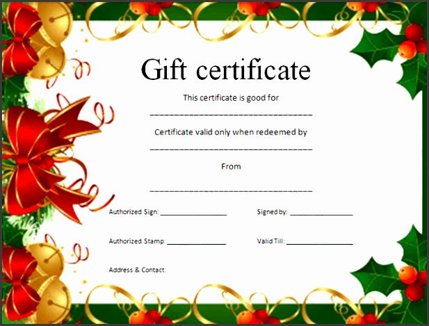 6 Christmas Gift Voucher Template - SampleTemplatess - SampleTemplatess - christmas gift vouchers templates