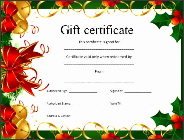 7 Christmas Voucher Templates Free - SampleTemplatess - SampleTemplatess