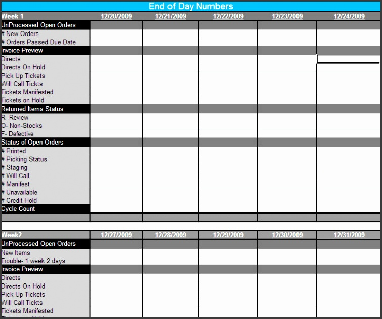 9 Daily Checklist Template Excel - SampleTemplatess - SampleTemplatess - daily checklist template excel