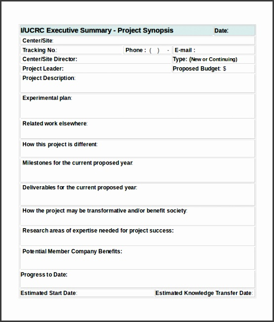 Modern Project Summary Template Word Pictures - Resume Ideas - executive summary template word