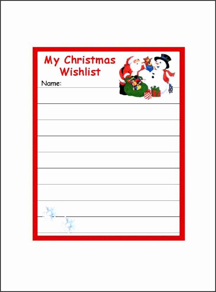 5 Santa Wish List Template - SampleTemplatess - SampleTemplatess
