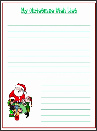 5 Santa Wish List Template - SampleTemplatess - SampleTemplatess - christmas wishlist template
