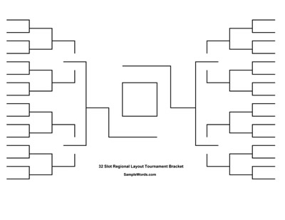 Free Printable 32 Team Tournament Bracket