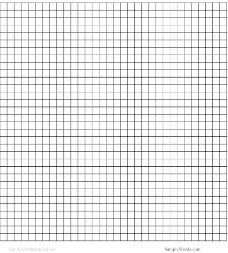 Graph Paper Template - graph paper word document