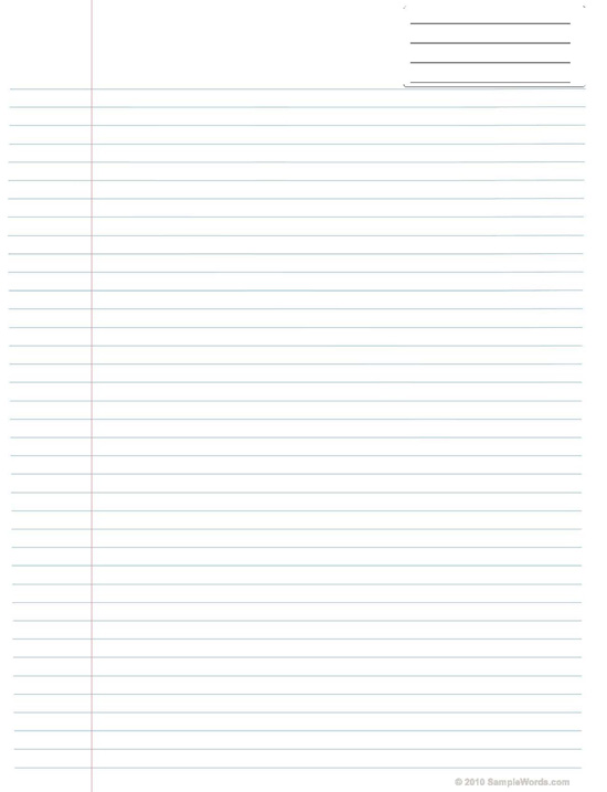 Lined Paper PDF - Printable Project Paper for Free Download