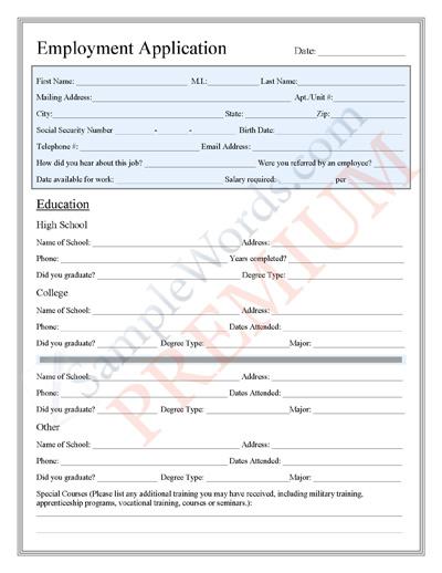 Employee Application Form Prestashop Job (Employment) Application - employment application form