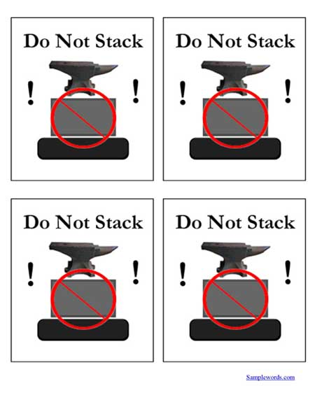Printable Shipping Labels - Do Not Stack - Multiple Per Page