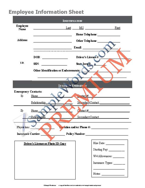 employee details form dzeo