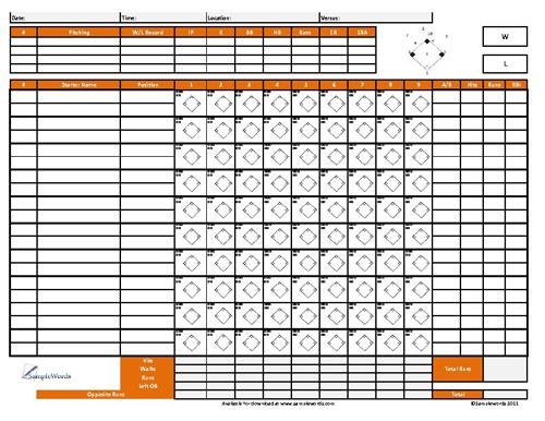 Softball Score Sheet - Free Download - softball score sheet template