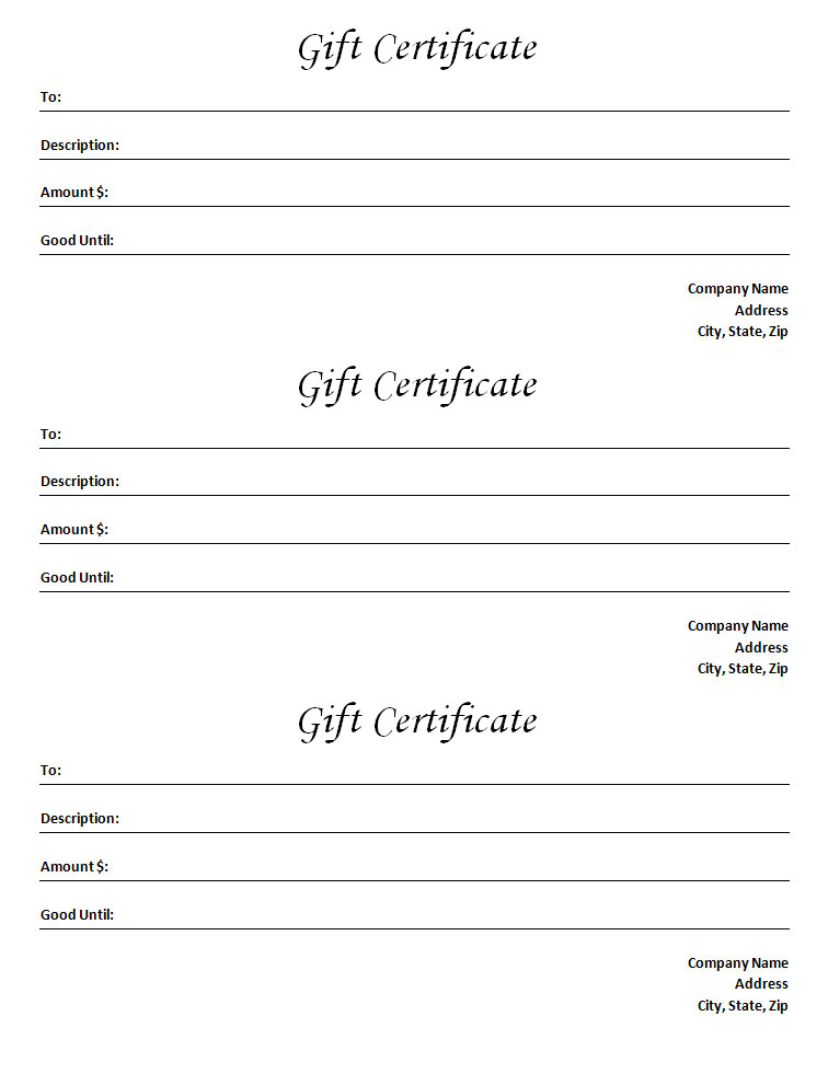 microsoft word gift certificate templates