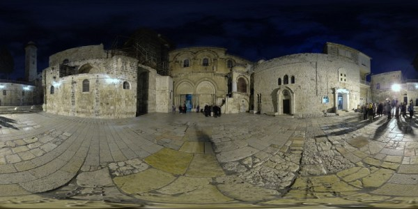 Church of the Holy Sepuchre - Exterior - Jerusalem, Old City - 360°