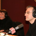 Philippe Couve et Jérôme Bouvier, fondateur des Assises du journalisme et médiateur de Radio France