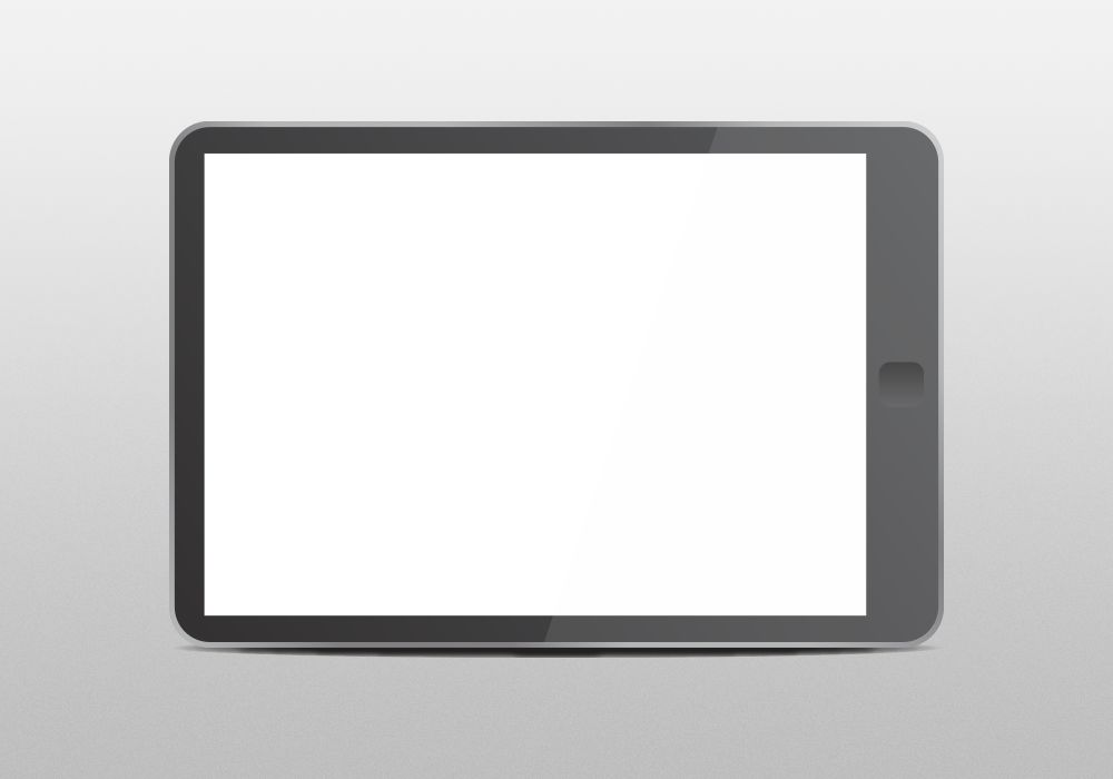 Free Vector Tablet Mockup