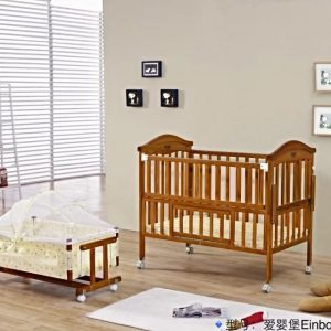 SamuelsDirect Mahogany Baby Cot Bed/ Baby Crib-151-1