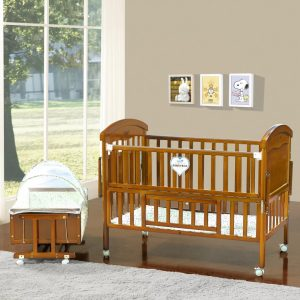 SamuelsDirect Mahogany Baby Cot Bed/ Baby Crib-181-1