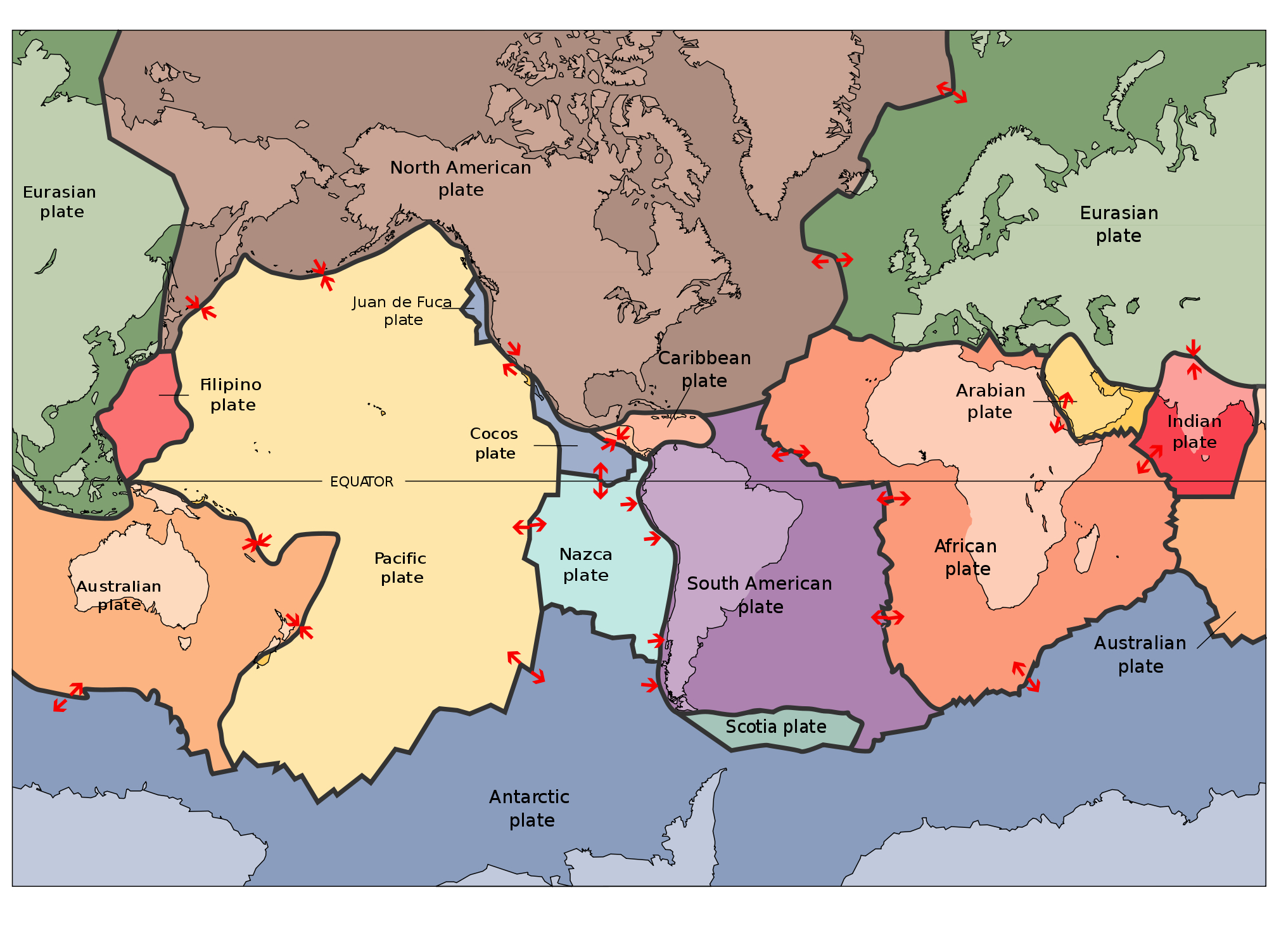 Mapping Plate Tectonics Worksheets Blank Plate Tectonics Map