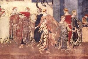 """Ambrogio Lorenzetti """"Siena'da Palazzo Pubblico"""""""