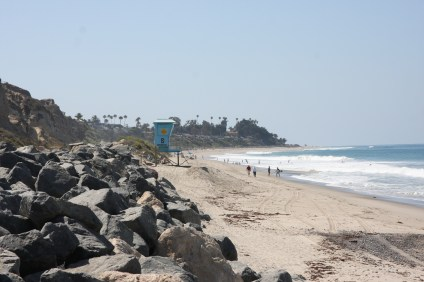 The current terminus of the beach trail at Calafia, near San Clemente State Beach. The City Council voted last week to put off formal planning for extending the trail to the beach for at least a year. Photo: Jim Shilander